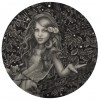 Alessia Iannetti – Beatrice Graphite on paper, 6″ diameter
